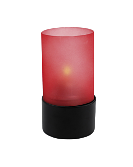 "shades for table lamp ""ambeo""  red glass (6 unit)"
