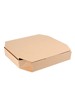 cajas octogonales 'thepack' 330 g/m2 26x26x3,8 cm natural cartÓn ondulado microcanal (100 unid.)