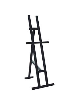 caballete 47x136 cm negro madera (1 unid.)