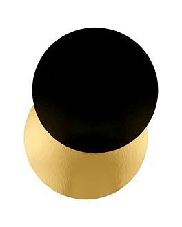 two sides cardboard for patisserie 950 g/m2 Ø 40 cm gold/black cardboard (100 unit)