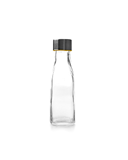 bottle + steel stopper 285 ml Ø 5,5x18 cm clear glass (48 unit)