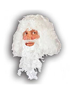 """""""father christmas"""" wig  white (1 unit)"""