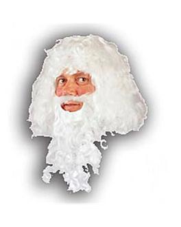 "cabeleira ""pai natal""  branco (1 unidade)"