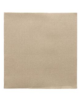 serviettes ecolabel 'double point' 18 g/m2 39x39 cm taupe ouate (1200 unitÉ)