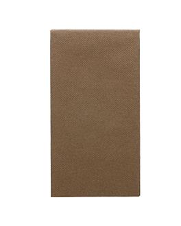 serviettes pliage 1/8 55 g/m2 40x40 cm chocolat dry tissue (750 unitÉ)