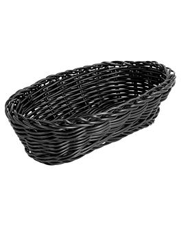 corbeilles similaire osier allongÉes 23x9x8 cm noir pp (12 unitÉ)