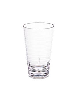 textured cups 410 ml Ø 8,1x13,7 cm clear polycarbonate (72 unit)