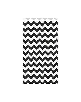 bolsas planas cenefa 60 g/m2 19+8x35 cm negro kraft verjurado (250 unid.)