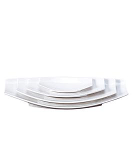 platos barquilla 41,2x21x6,3 cm blanco porcelana (2 unid.)