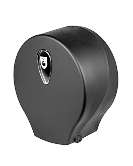 toilet dispenser 'baby jumbo' 27,2x12,5x25,3 cm black abs (1 unit)