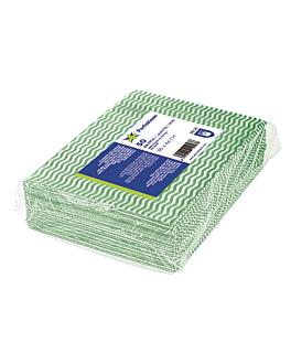 """50 u. """"wipes perfokleen"""" 45 gsm 36x44 cm green viscose (1 unit)"""
