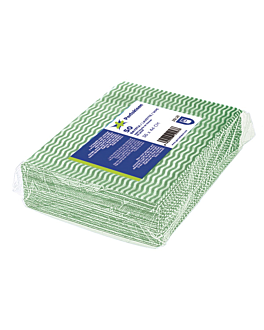 "50 u. lavettes ""perfokleen"" 45 g/m2 36x44 cm vert viscose (1 unitÉ)"