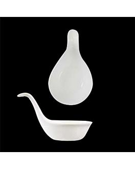 mini cuillÈres 10x5,2x5,2 cm blanc porcelaine (12 unitÉ)
