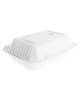 caixas 'bionic' 1 l 16,5x22,5x6,4 cm branco bagaÇo (200 unidade)