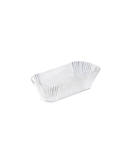 elongated cases 'petits fours' 50 gsm 10,5x4x2,5 cm white greaseproof parch. (1000 unit)