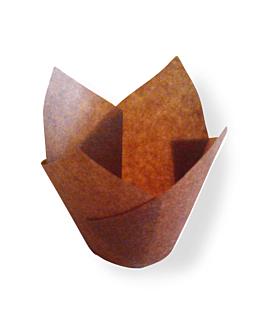 muffin cups 'tulip' 50 g/m2 17,5x17,5 cm marron parch.ingraissable (1000 unitÉ)