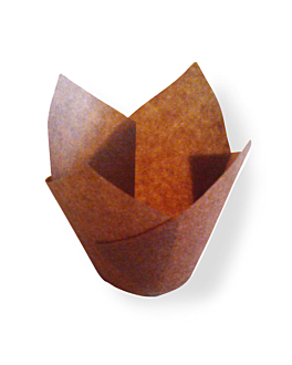 moldes cupcake 'tulip' 50 g/m2 17,5x17,5 cm marrÓn perg. antigrasas (1000 unid.)