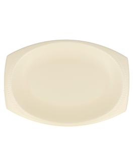 plateaux ovale 28x19,5 cm amande pse (500 unitÉ)