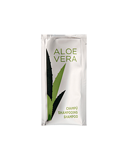 shampoo sachets 'aloe vera' 10 ml 10x5 cm pet (1000 unit)
