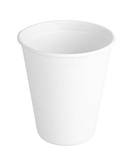 bicchieri 'bionic' 260 ml Ø 9x8 cm bianco bagassa (1000 unitÀ)