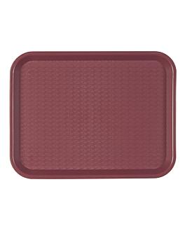 fast food tray 35,5x45,3 cm burgundy pp (1 unit)