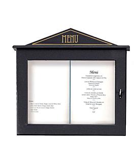porta menÚs luminoso 60x65x8 cm negro madera (1 unid.)