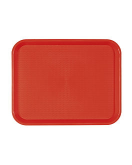 fast food tray 35,5x45,3 cm red pp (1 unit)