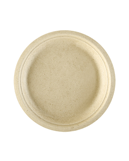 assiettes 'bionic' Ø 26x2,1 cm naturel bagasse (500 unitÉ)