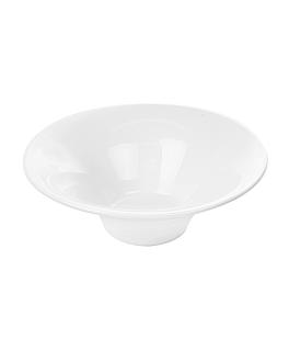 bols striÉs 500 ml Ø 20,4x7,3 cm blanc porcelaine (4 unitÉ)