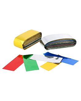 confetti rectangulaire mÉtallisÉe 1 kg 5x2 cm assorti plastique (1 unitÉ)