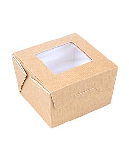 scatole con finestra 'thepack' 300 ml 220 g/m2 + opp 8x7,5x5,5 cm naturale cartone ondulato a nano-micro (600 unitÀ)