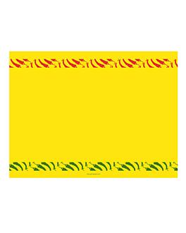 """manteles """"mexicano"""" 60 g/m2 30x40 cm amarillo intenso airlaid (800 unid.)"""
