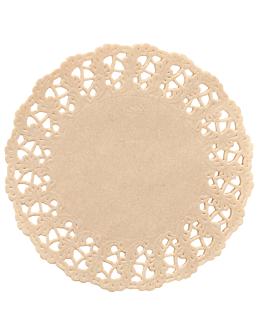 dentelles rondes ajourÉes 40 g/m2 Ø 24 cm naturel kraft (250 unitÉ)