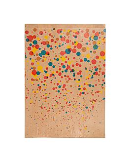 bolsas planas 'confetti' 60 g/m2 26+8x35 cm natural kraft verjurado (250 unid.)