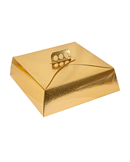 cake boxes 34x34x10 cm gold cardboard (50 unit)