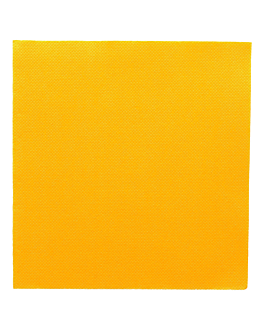 serviettes ecolabel 'double point' 18 g/m2 33x33 cm jaune soleil ouate (1200 unitÉ)