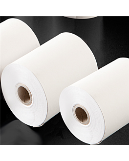 48 u. rolls thermical paper for cash registers Ø 80x80 mm white paper (1 unit)