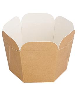 contenitori per mini noodles 10 cl 5x5 cm marrone cartone (100 unitÀ)