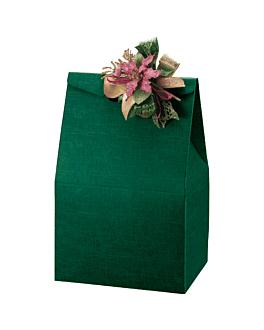 50 u. bolsas 28x20x41 cm verde cartÓn (1 unid.)