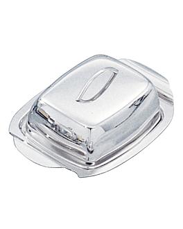 recipiente mantequilla 21x13,5x6 cm plateado inox (1 unid.)