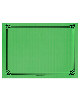 table mats 48 gsm 31x43 cm prairie green cellulose (2000 unit)