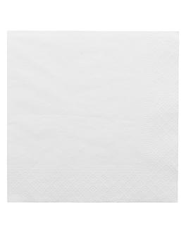 serviettes ecolabel 2 plis 18 g/m2 33x33 cm blanc ouate (2400 unitÉ)
