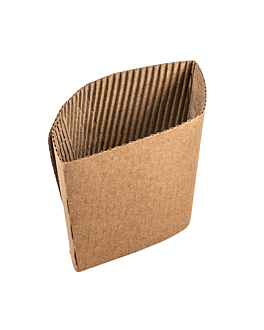 sleeves for cups 480 ml 170 + 90 gsm 13/11x6,5 cm natural cardboard (1000 unit)