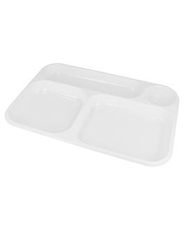 take away trays - 4 comp. 36x24 cm white ps (300 unit)