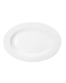 plats ovales 30,5 cm blanc porcelaine (12 unitÉ)
