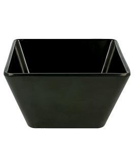 boles 0,7 l 13x13x7 cm negro melamina (6 unid.)