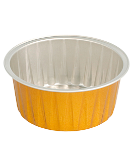 recipientes pastelerÍa 125 ml Ø8,5x3,5 cm oro aluminio (100 unid.)
