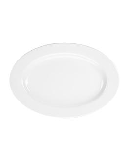 plats ovales 26 cm blanc porcelaine (12 unitÉ)