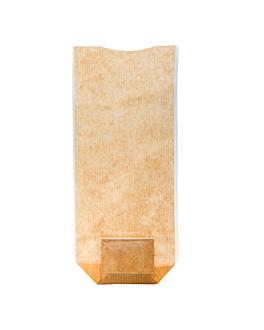 sachets avec base et fenÊtre pp 12x26 cm naturel kraft (100 unitÉ)