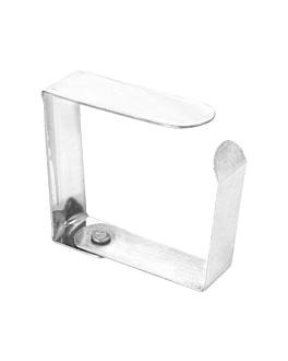 tischdeckenklammer 4,7x4x1,2 cm metall stahl (144 einheit)